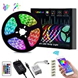 LED Strip Lights, L8star Color Changing Rope Lights 16.4ft SMD 5050 RGB Light Strips with Bluetooth Controller Sync to Music Apply for TV, Bedroom, Party and Home Decoration (16.4ft): more info