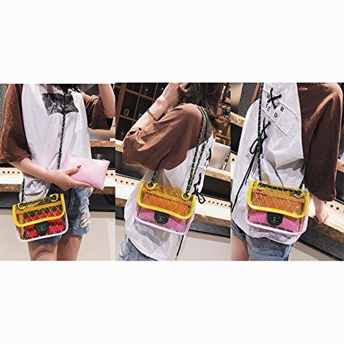 Lattice Transparent Messenger Waterproof Bag Jelly Fashion Abuyall Bag Beach Handbag Chain Pvc Shoulder Clear S4 Zv4qI