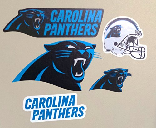 Panthers Logo Wall - Carolina Panthers FATHEAD Team Set of 5 Logo Helmet Signs Official NFL Vinyl Wall Graphics 3-9