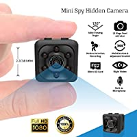 Shop360z Mini Spy Hidden Camera - Security Nanny Dash Cam with Motion Detection and Night Vision, Full HD 1080p Indoor/Outdoor for Home, Car and Office with Easy User Guide