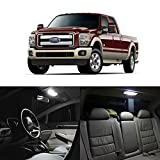 Partsam 2005-2016 Ford F-250 F-350 F-450 F-550 White Interior LED Package Kit + License Plate Light (11 Pieces)