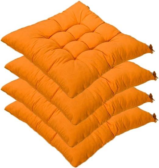 AGDLLYD Set da 4 Cuscino Sedia,Cuscini per Giardino, per Dentro eo Fuori,40x40 cm,Disponibile in Tanti Colori Diversi,Cuscini per sedie da
