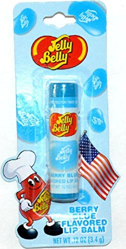 Jelly Belly Berry Blue Flavored Lip Balm .12 oz (Homemade Halloween Makeup Zombie)