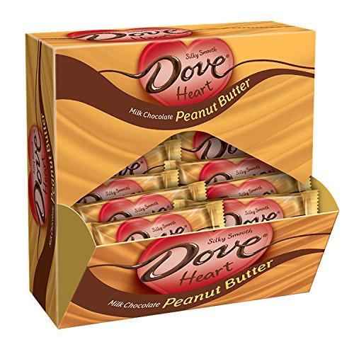 Chocolate Peanut Milk (DOVE Valentine Hearts Peanut Butter Milk Chocolate Candy Bag, 0.9 oz 24-Count)