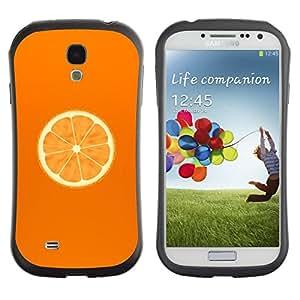 Paccase / Suave TPU GEL Caso Carcasa de Protección Funda para - Minimalist Orange Slice - Samsung Galaxy S4 I9500