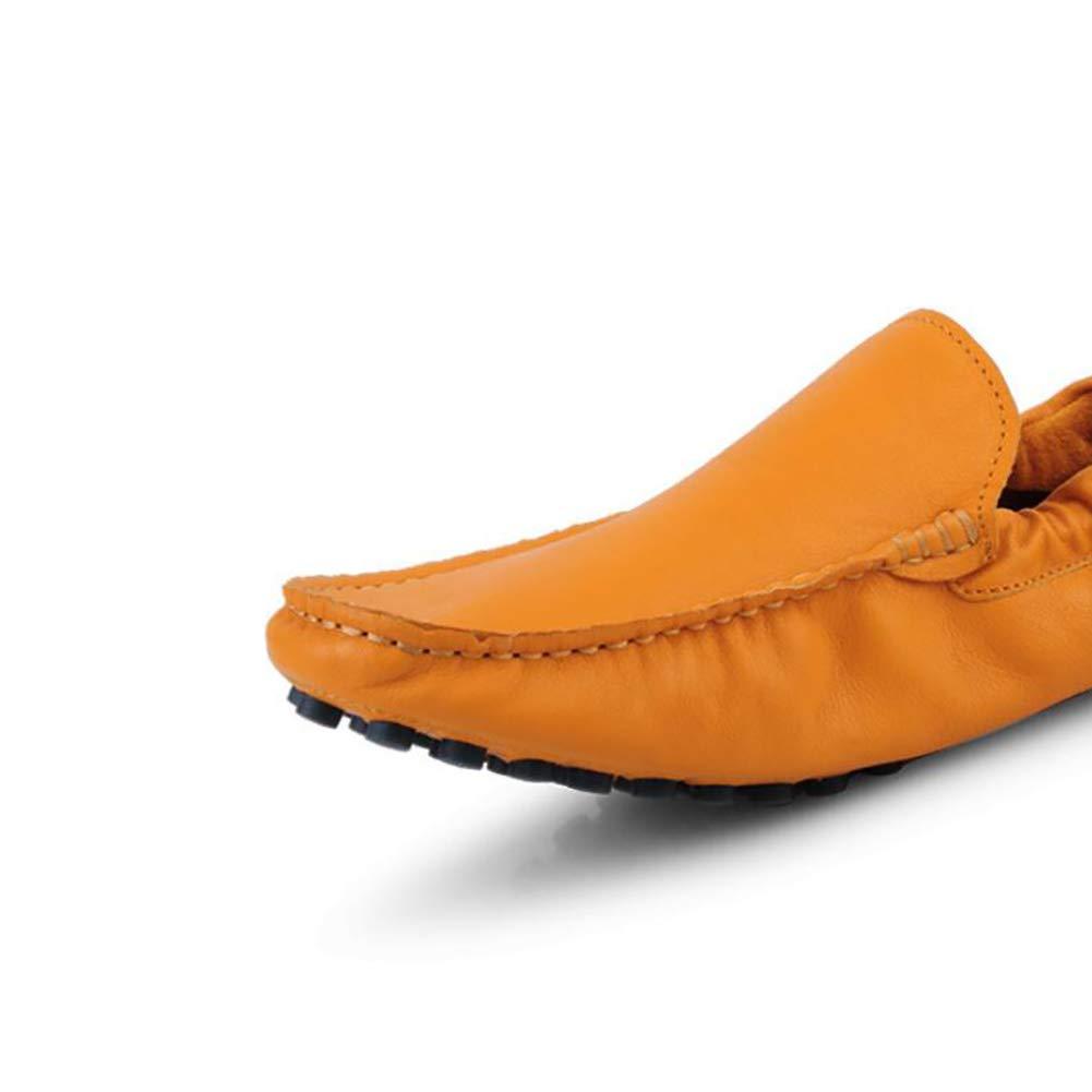 Männer Loafer Wohnungen Casual Slip On Schuhe Mokassins Trainer Handgefertigte Fahr Schuhe On Wildleder Stiefelschuhe Hausschuhe Yellow 4646d8