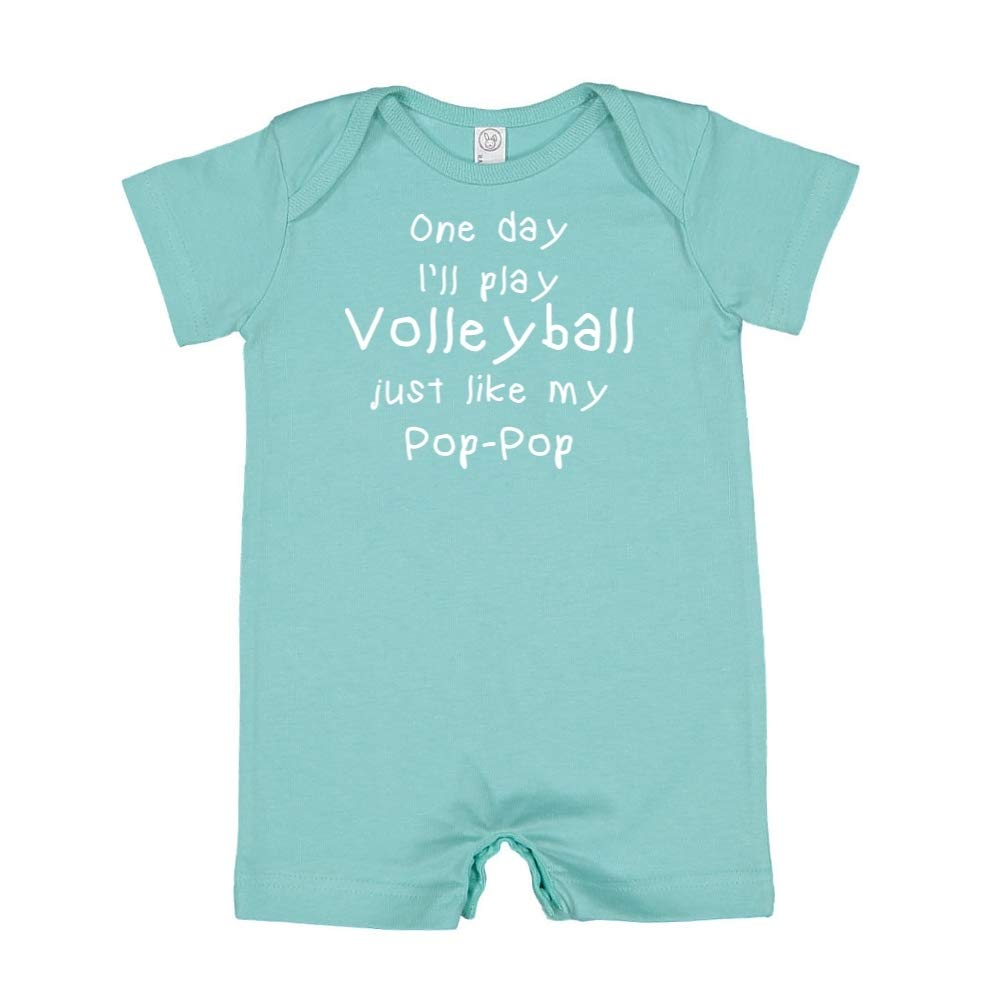 One Day Ill Play Volleyball Just Like My Pop-Pop Baby Romper