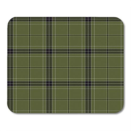 (Emvency Gaming Mouse Pad Flannel Plaid Tartan Traditional Scottish Tiles for Abstract Ancient Rectangle Mouse Mat Non-Slip Rubber Base MousePads 9.5