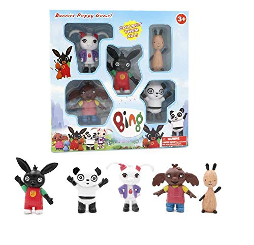 GrandToyZone selling 5pcs/Set Figure - Bing Bunny Rabbit Action Figure Toy Cute Elephant Panda Bear Model Doll Toys Kids Gift
