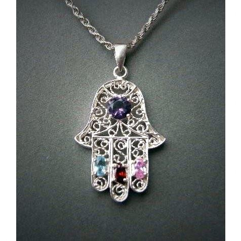 ahuva.com Bejeweled Filigree Hamsa (Bejeweled Filigree)