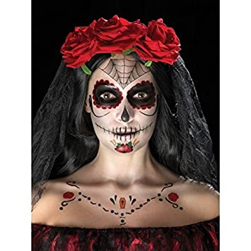Day Of The Dead Face Tattoo Transfers Kit Amazoncouk Toys Games