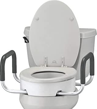 Pleasing Nova Toilet Seat Riser With Handles Raised Toilet Seat For Under Seat With Padded Arms For Elongated Toilet Seat Gmtry Best Dining Table And Chair Ideas Images Gmtryco