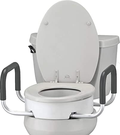 Excellent Nova Toilet Seat Riser With Handles Raised Toilet Seat For Under Seat With Padded Arms For Elongated Toilet Seat Uwap Interior Chair Design Uwaporg