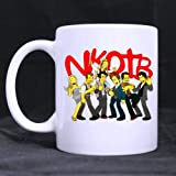 Cartoon Band New Kids On The Block Customized Personalized Coffee Mugs Beer Mug White Ceramic Water Cups Office Home Cup 11 OZ Two Sides Printed