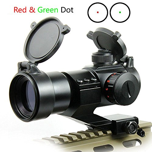 Ulako Tactical Reflex Stinger 5 MOA Red & Green Dot Sight Scope Picatinny Rail Mount for AR15 Rifle Shotgun
