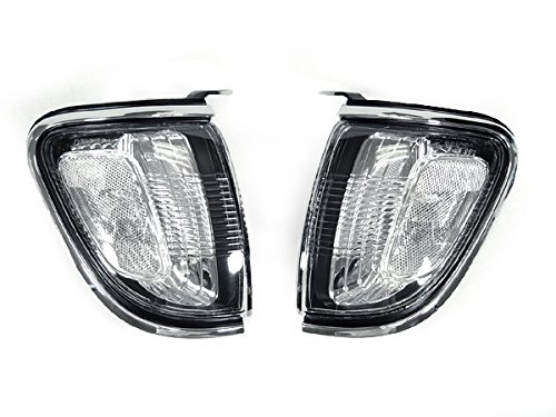 DEPO 2001-2004 Toyota Tacoma Chrome Trim Clear Front Corner Light ()
