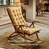 AMZ Exclusive Soft Rocking Chair Cushions Home Cotton Cushion Long Chair Pad (48 x 16 inches,Set of 1) (48 x 16 Inches, Beige)