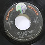 infinity 45 RPM keep it to yourself / get on the case