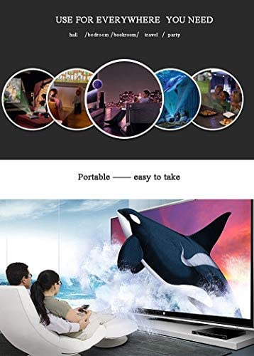 Projector2019 XINDA 2000 Lumens Video Projector with 170 Display 50000 Hours LED Full HD Video