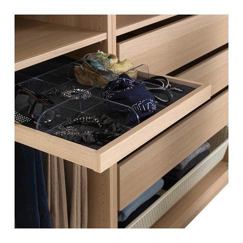 Ikea KOMPLEMENT - Bandeja extraíble, Efecto Roble teñido Blanco - 50x58 cm: Amazon.es: Hogar