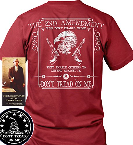 Sons of Libery The 2nd Amendment: Guns Don't Enable Crime. Red/LRG T-Shirt. by Sons Of Liberty