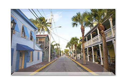 - Key West, Florida - Old Street In Key West - Photography A-93155 (6x4 Acrylic Photo Block Gallery Quality)