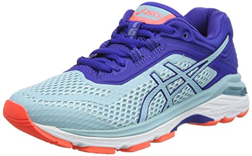 Asics Gt-2000 6, Zapatillas de Running Para Mujer Turquesa (Porcelain Blueporcelain Blueasics Blue 1414)