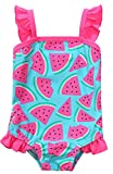 V FOR CITY Infant Girls Swimsuit One Piece 6 Months Swimwear Green 6/12M