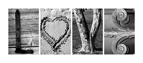 000 Alphabet Photos Word Art LOVE (w/ HEART). DIY Pre-pack includes Four (4) 4x6 Alphabet Photographs of Architectural, Industrial and Natural themed items, 1 Pack. by Letter Perfect Names