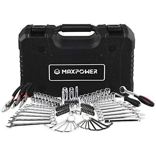 MAXPOWER 124-Piece Mechanics Tool Set, 1/4