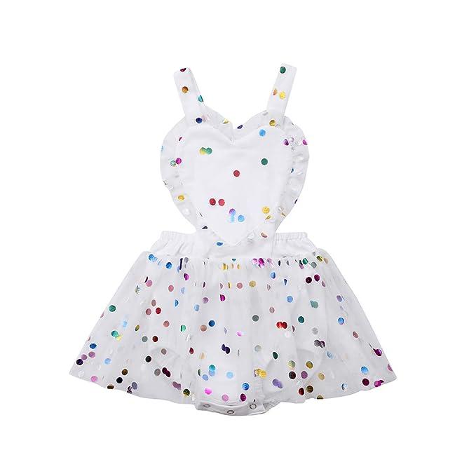 Amazon.com: Vestido de tul para recién nacido, sin espalda ...