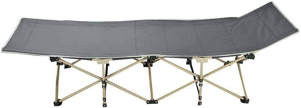 CellDeal Heavy Duty Outdoor Folding Camping Bed Single Bed Nap bed Portable with Carry Bag 190 67 36cm