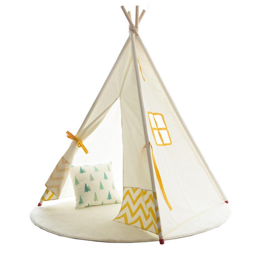 Rwy Indian Cotton Zelt Eltern-Kind, Spiel, Lesen, Gibt Kindern Einen Bequemen Geheimen Raum,Weiß