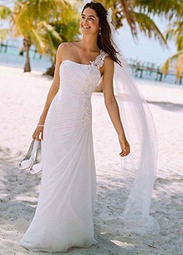 SAMPLE: One Shoulder Chiffon Wedding Dress