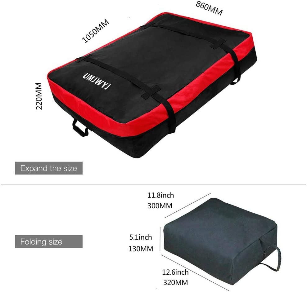 sac de toit de voiture Porte-bagages Porte-bagages de toit /étanche /à la poussi/ère avec 2 sangles renforc/ées pour les v/éhicules tout-terrain Sac de toit Sac de toit