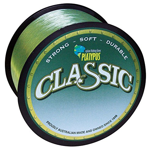 Platypus Classic (Green) - World's Best Fishing Line Since 1898! (300m spool / 328 yards, 4 lb) (Igfa Fishing Line)