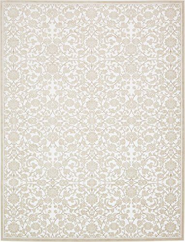 Snow White Vintage (Modern Vintage Inspired Area Rugs Snow White 10' x 13' FT Himalaya Collection Rug - rugs for living room - rugs for dining room & bedroom - Floor Carpet)