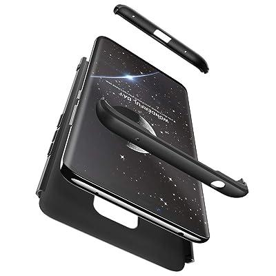 2ndSpring Huawei Mate 20 Pro Funda, Huawei Mate 20 Pro Case 360 Grados Integral para Ambas Caras + Cristal Templado, Luxury 3 in 1 PC Hard Skin Carcasa Case Cover para Huawei Mate 20 Pro Negro: Hogar