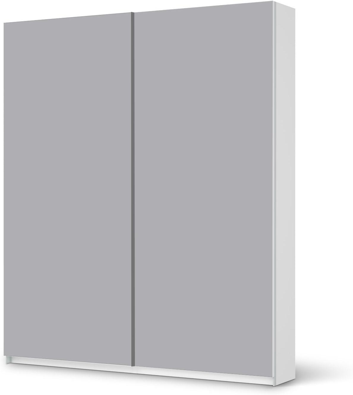 Diapositiva IKEA brilliant armario 236 cm Altura - puerta corredera/diseño adhesivo gris{3}/ decoración: Amazon.es: Hogar
