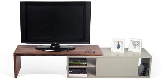 Tema Home Move - Mueble para TV Modular (Nogal y Gris con 1 Puerta corredera): Amazon.es: Hogar