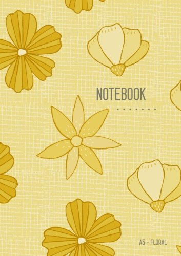 Download A5 Notebook Floral: Dot Grid Notebook Yellow, Cute Flower Design, Bullet Journal, Blank Dotted Matrix, Medium, Softcover, Numbered Pages (A5 Writing and Drawing Notebooks) PDF