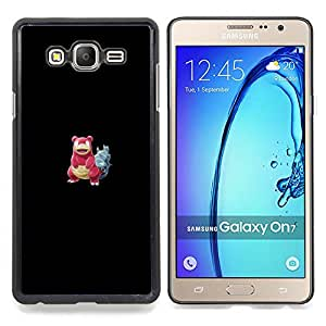 "Qstar Arte & diseño plástico duro Fundas Cover Cubre Hard Case Cover para Samsung Galaxy On7 O7 (Meter monstruo rojo cangrejo"")"