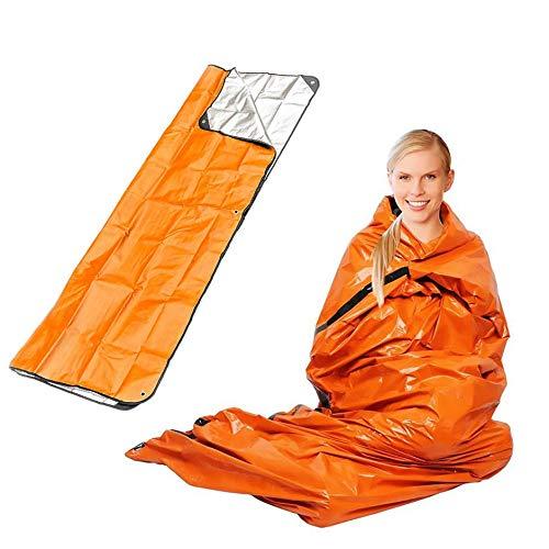 Jullyelegant Couverture de Secours en Plein air pour Sac de Couchage durgence Isolant r/éfl/échissant Orange Film aluminis/é Orange