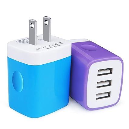 Amazon.com: Kakaly 2.1A/5V - Cargador USB con cable tipo C ...