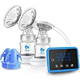 Bellababy Double Electric Breast Feeding Pumps Pain Free Strong Suction Power Touch Panel