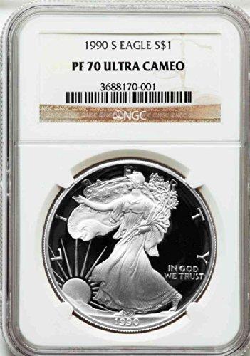 er Eagle Dollar DCAM NGC PF70 (1990 American Silver Eagle)
