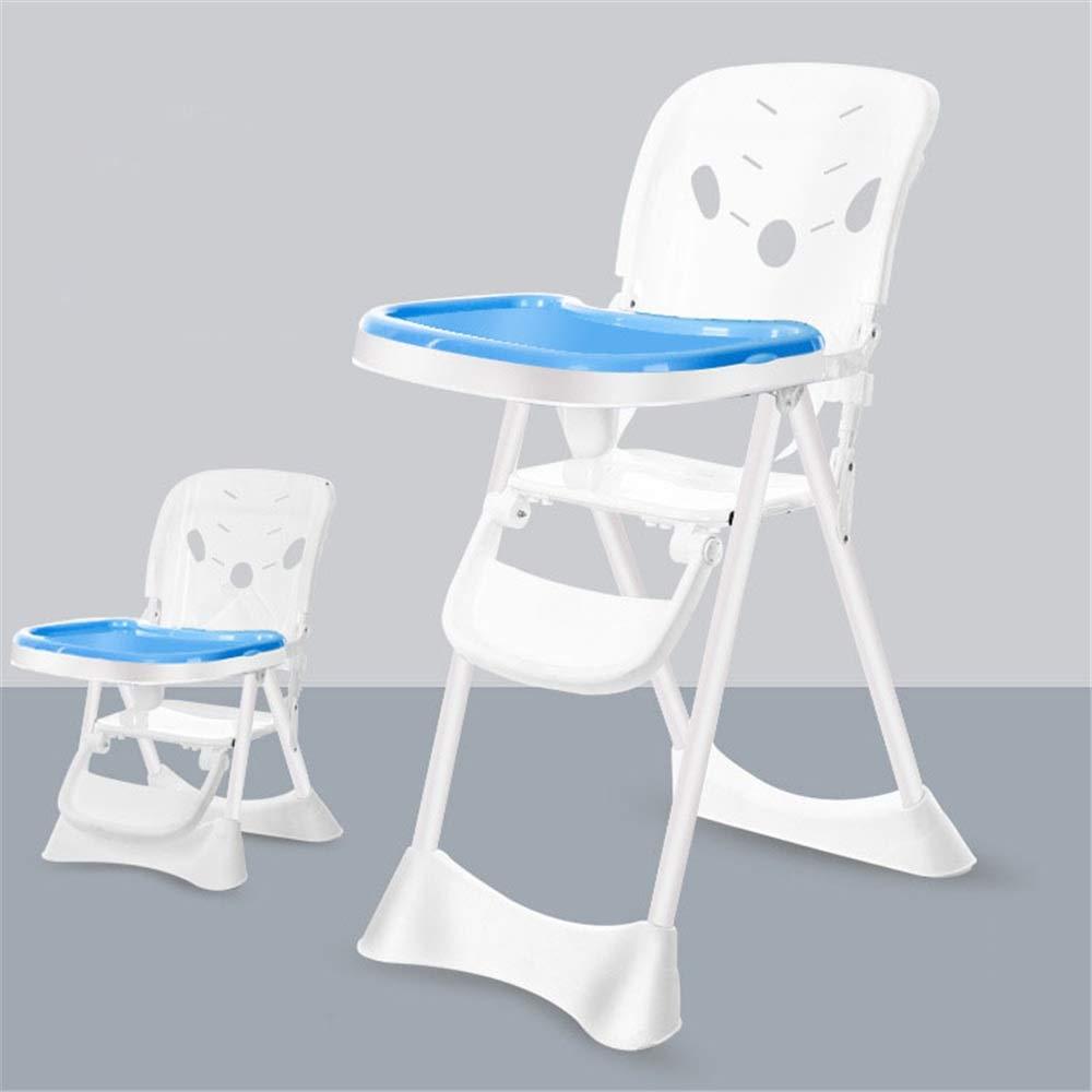 子供の世話をするのに良いアシスタントベビーブースターシートハイチェアトレイ付きの子供用のディナーチェア椅子滑り止め金庫快適で折りたたみ式調節可能な赤ちゃん幼児子供 赤ちゃんを転倒から守る (色 : 青)  青 B07RW4SVXZ