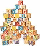 Best Wooden Building Blocks - Maxim 45mm Wooden ABC Blocks, 40 Pieces Review