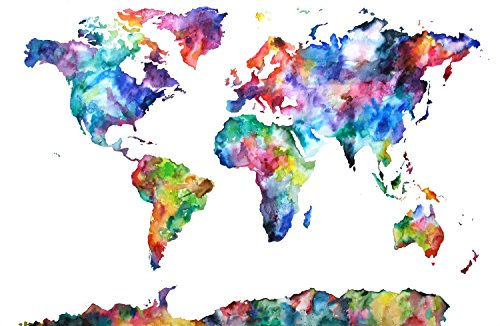 Love st paper world map artistic poster 12x18 inch multicolour paper world map artistic poster 12x18 inch multicolour amazon electronics gumiabroncs Choice Image
