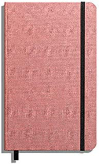 product image for Shinola Journal, HardLinen, Ruled, Pink (5.25x8.25)
